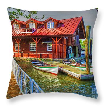 Along The Potamac Throw Pillow