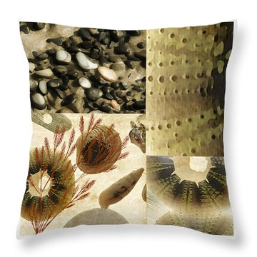 Along The Shore Throw Pillow by Bonnie Bruno