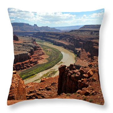 Along The White Rim Road Throw Pillow by Marty Koch