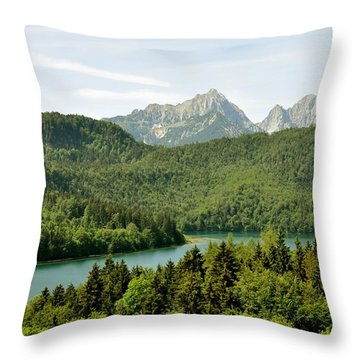 Alps From Bavaria Throw Pillow by Rick Frost