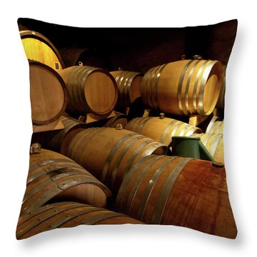 Alsace Oak Throw Pillow by Bill Lindsay