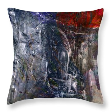 Altered Second Movements Throw Pillow by Linda Sannuti