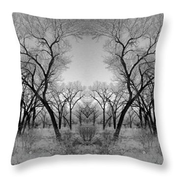 Altered Series - Bare Double Throw Pillow by Kathleen Grace