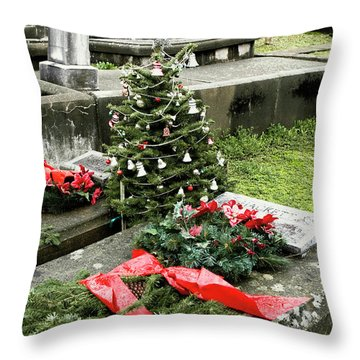 Always Home For Christmas Throw Pillow