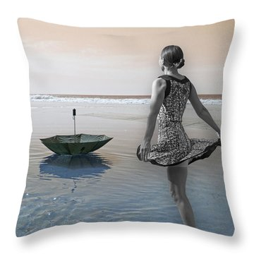 Always Looking To The Light Throw Pillow by Betsy Knapp