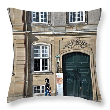 Throw Pillow featuring the photograph Amalienborg Palace by Steven Richman