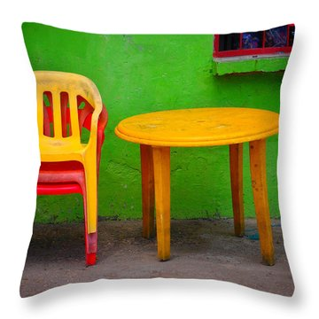 Amarillo Dulce Throw Pillow by Skip Hunt