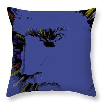 Amazing Grace And Elvis Throw Pillow by Robert Margetts