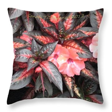 Amazing Hues Of Nature Throw Pillow by Sonali Gangane