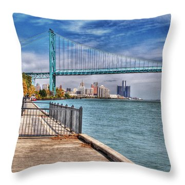 Ambassador Bridge Detroit Mi Throw Pillow