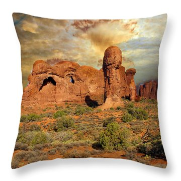 Amber Arches Throw Pillow by Marty Koch