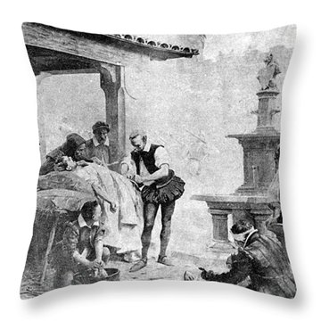 Ambroise Paré, French Surgeon, Pioneer Throw Pillow by Science Source