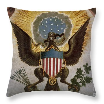 America - Great Seal Throw Pillow by Granger