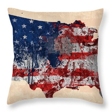 America Throw Pillow by Mark Ashkenazi