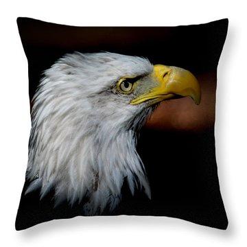 American Bald Eagle Throw Pillow by Steve McKinzie