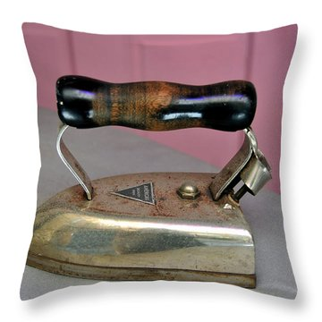 American Beauty Iron Throw Pillow by David Lee Thompson