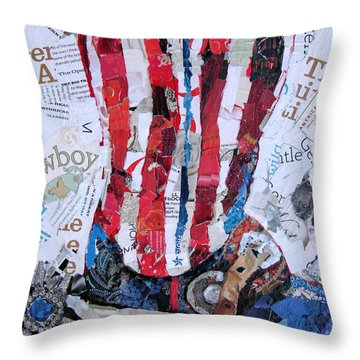 American Boot Throw Pillow by Suzy Pal Powell