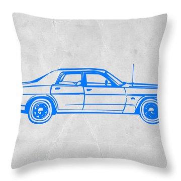 American Cars Throw Pillows