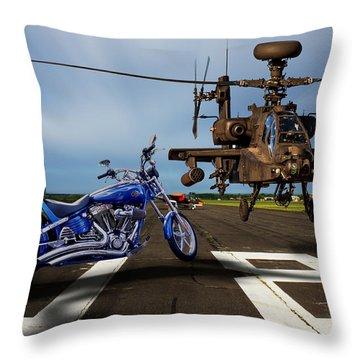 American Choppers 2 Throw Pillow by Ken Brannen