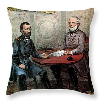 American Civil War  Throw Pillow by Photo Researchers