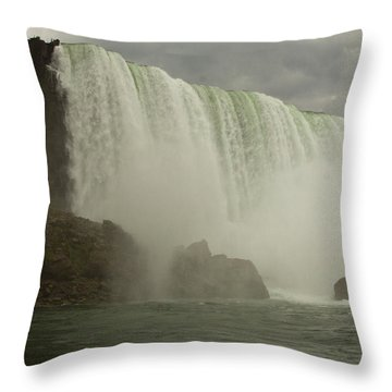 Throw Pillow featuring the photograph American Falls by Darleen Stry