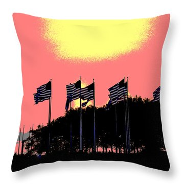 American Flags1 Throw Pillow by Zawhaus Photography