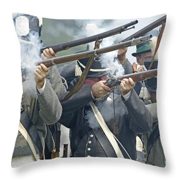 American Infantry Firing Throw Pillow