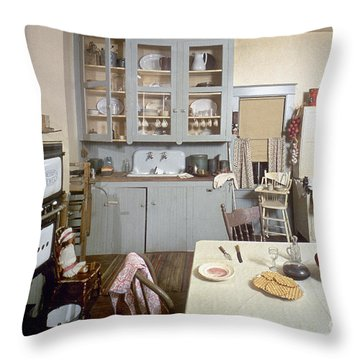 American Kitchen Throw Pillow by Granger
