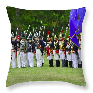 American Line Throw Pillow