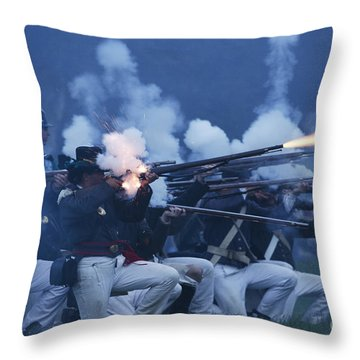 American Night Battle Throw Pillow by JT Lewis