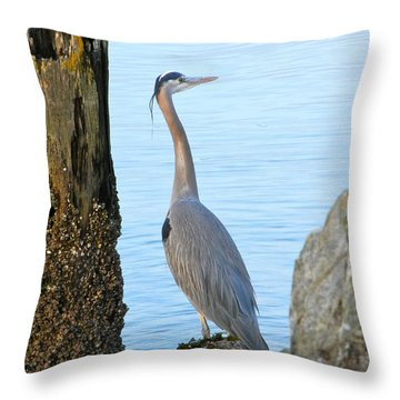 Among Piers Throw Pillow