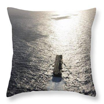 Amphibious Assault Ship Uss Boxer Throw Pillow by Stocktrek Images