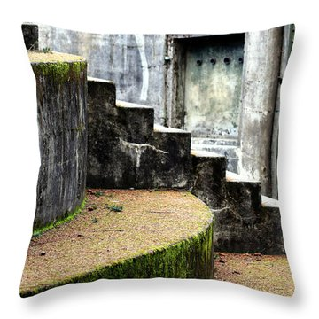 An Abandoned Fortress Throw Pillow
