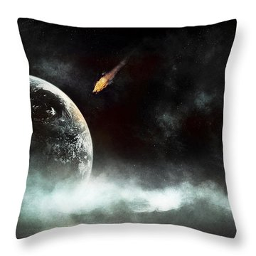 An Abandoned Planet About To Get Hit Throw Pillow
