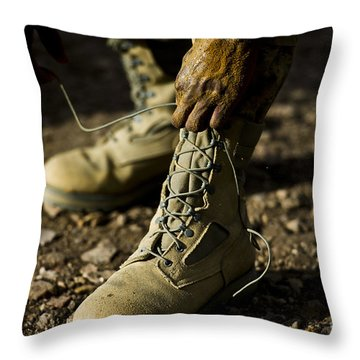 An Air Force Basic Military Training Throw Pillow by Stocktrek Images