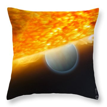 An Artists Impression Of A Jupiter-size Throw Pillow by Stocktrek Images