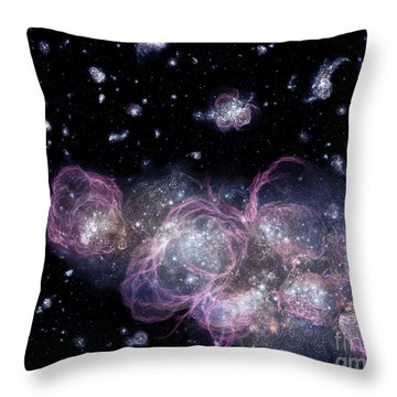 An Artists Impression Of How Throw Pillow by Stocktrek Images
