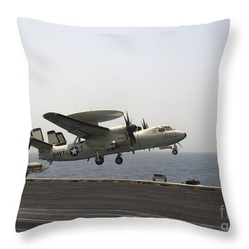 An E-2c Hawkeye Takes Throw Pillow by Stocktrek Images