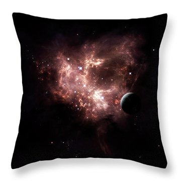 An Emission Nebula Is Viewed From Neaby Throw Pillow by Brian Christensen