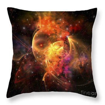An Emission Nebula Out In Space Forming Throw Pillow