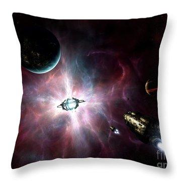 An Enormous Stellar Power Throw Pillow by Brian Christensen
