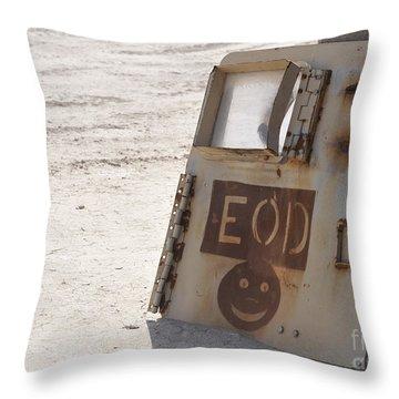 An Explosive Ordnance Disposal Logo Throw Pillow by Stocktrek Images