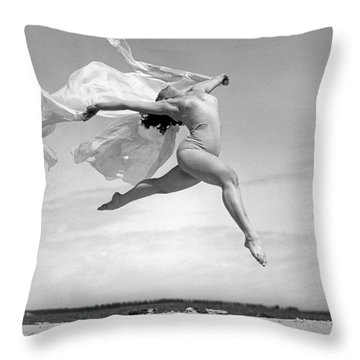 An Exuberant Dance To Spring Throw Pillow