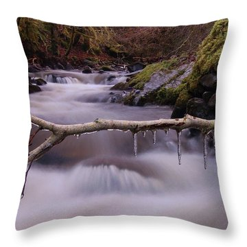An Icy Flow Throw Pillow