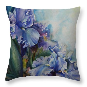 An Iris For My Love Throw Pillow