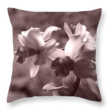 Throw Pillow featuring the photograph An Orchid Dream by Kerri Ligatich