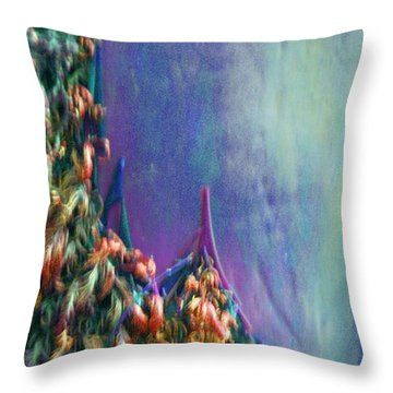Throw Pillow featuring the digital art Ancesters by Richard Laeton