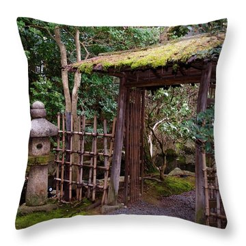 Ancestor Guarding The Gate Throw Pillow