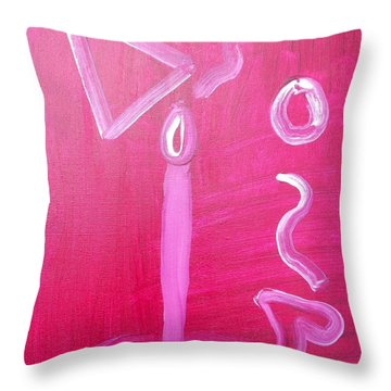 Ancient Abstract Candle Throw Pillow
