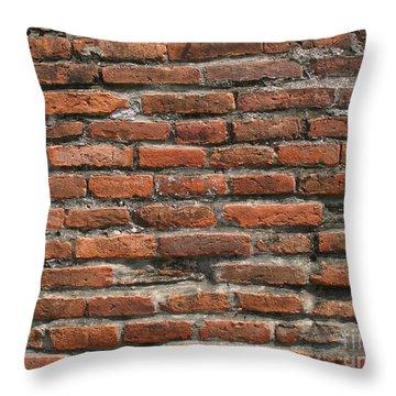 Ancient Brick Wall Throw Pillow by Yali Shi